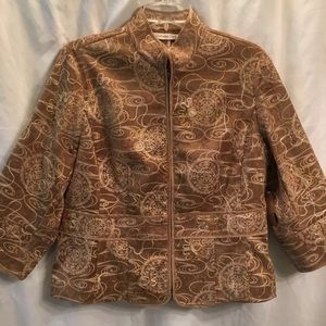Coldwater Creek Jacket Shimmer Embroidery Career Z